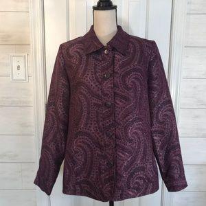Susan Graver Paisley Lined Jacket/Blazer Size M